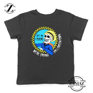 Get In Losers Skull Drive Kids Tshirt