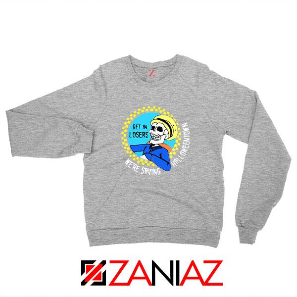 Get In Losers Skull Drive Sport Grey Sweatshirt