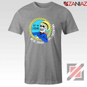 Get In Losers Skull Drive Sport Grey Tshirt