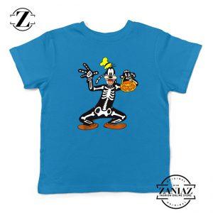 Goofy Skeleton Kids Blue Tshirt