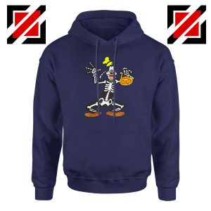 Goofy Skeleton Navy Blue Hoodie