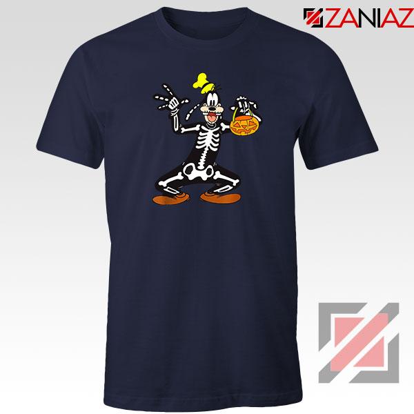 Goofy Skeleton Navy Blue Tshirt