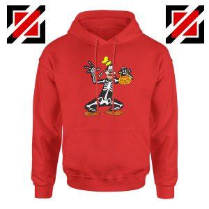 Goofy Skeleton Red Hoodie