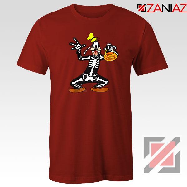 Goofy Skeleton Red Tshirt