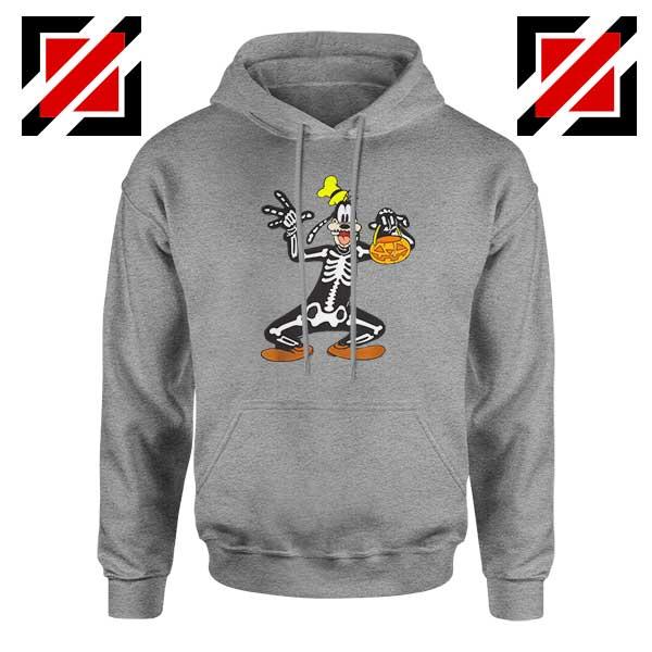 Goofy Skeleton Sport Grey Hoodie