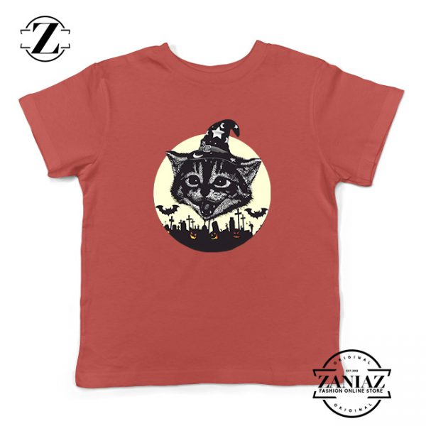 Halloween Black Cat Kids Tshirt
