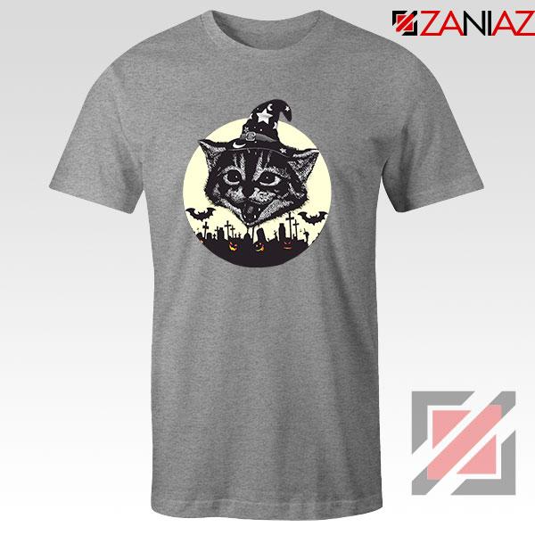 Halloween Black Cat Sport Grey Tshirt