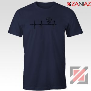 Heartbeat Pizza Navy Blue Tshirt