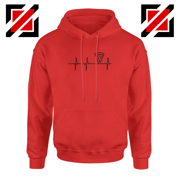 Heartbeat Pizza Red Hoodie