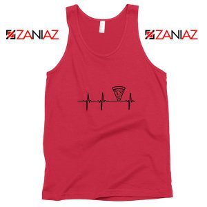 Heartbeat Pizza Red Tank Top