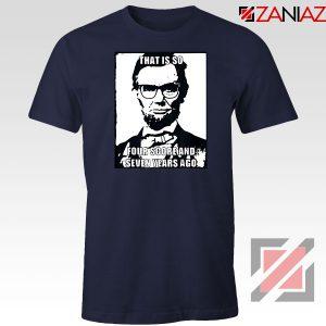 Hipster Abraham Lincoln Navy Blue Tshirt
