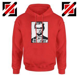 Hipster Abraham Lincoln Red Hoodie