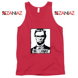 Hipster Abraham Lincoln Red Tank Top