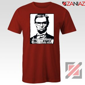 Hipster Abraham Lincoln Red Tshirt