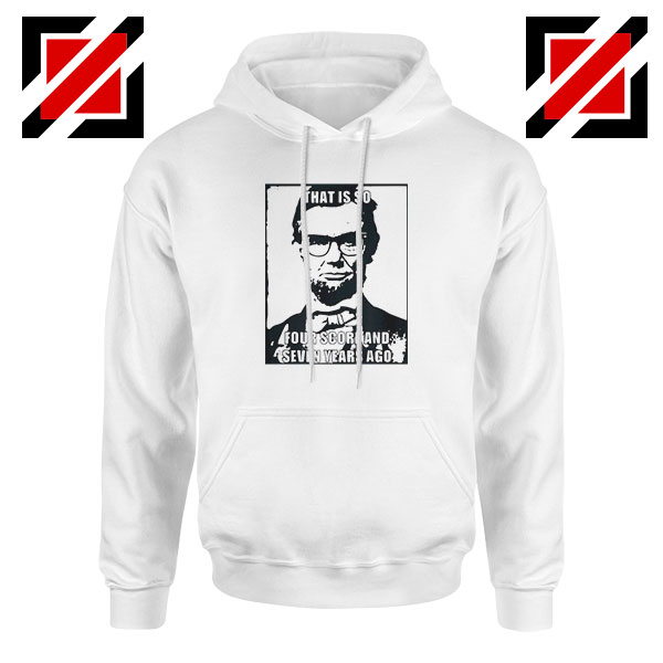 Hipster Abraham Lincoln White Hoodie