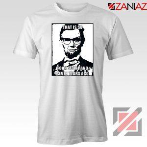 Hipster Abraham Lincoln White Tshirt