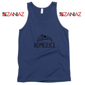 Home Slice Pizza Navy Blue Tank Top