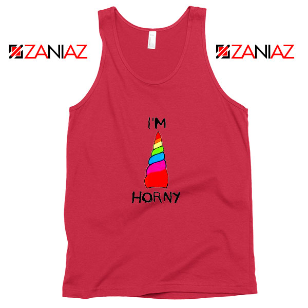 I am Horny Red Tank Top