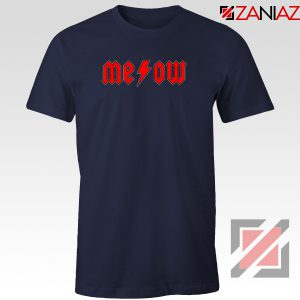 Meowtallica Merch Navy Blue Tshirt