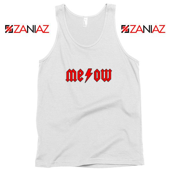 Meowtallica Merch White Tank Top
