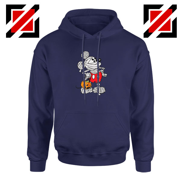 Mickey Mouse Mummy Navy Blue Hoodie
