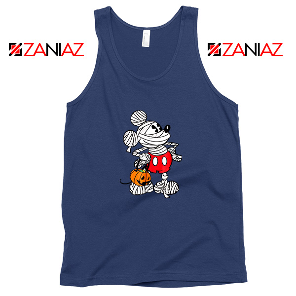 Mickey Mouse Mummy Navy Blue Tank Top