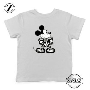 Mickey Mouse Skull Kids Tshirt