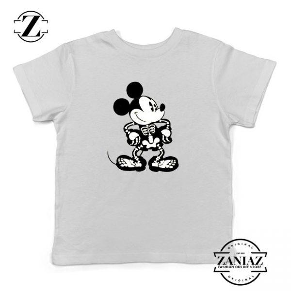 Mickey Mouse Skull Kids Tshirt