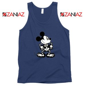 Mickey Mouse Skull Navy Blue Tank Top