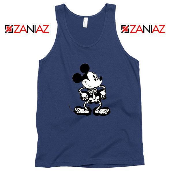 Mickey Mouse Skull Navy Blue Tank Top