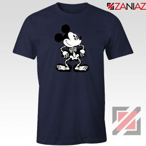 Mickey Mouse Skull Navy Blue Tshirt
