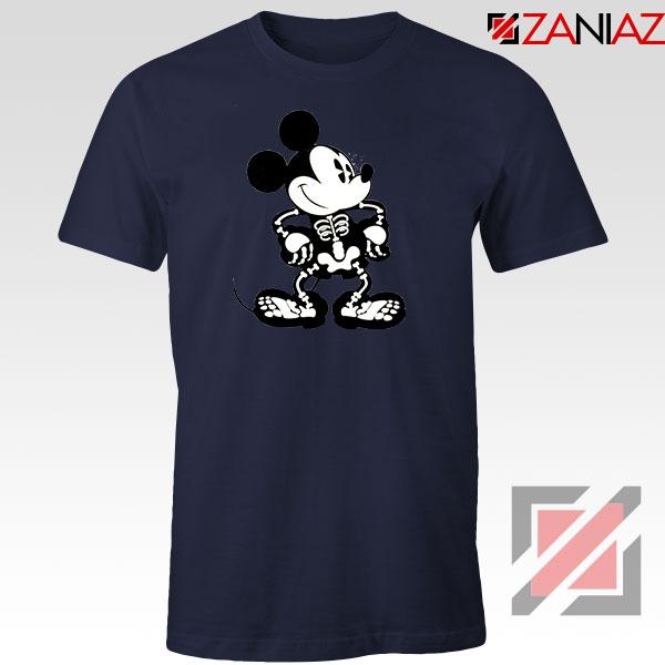 Mickey Mouse Skull Navy Blue Tshirt