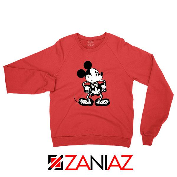 Mickey Mouse Skull Red Sweatshirt