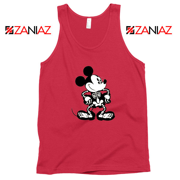 Mickey Mouse Skull Red Tank Top