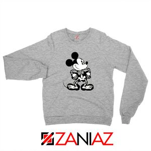 Mickey Mouse Skull Sport Grey Sweatshirt
