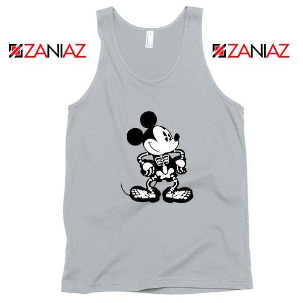 Mickey Mouse Skull Sport Grey Tank Top