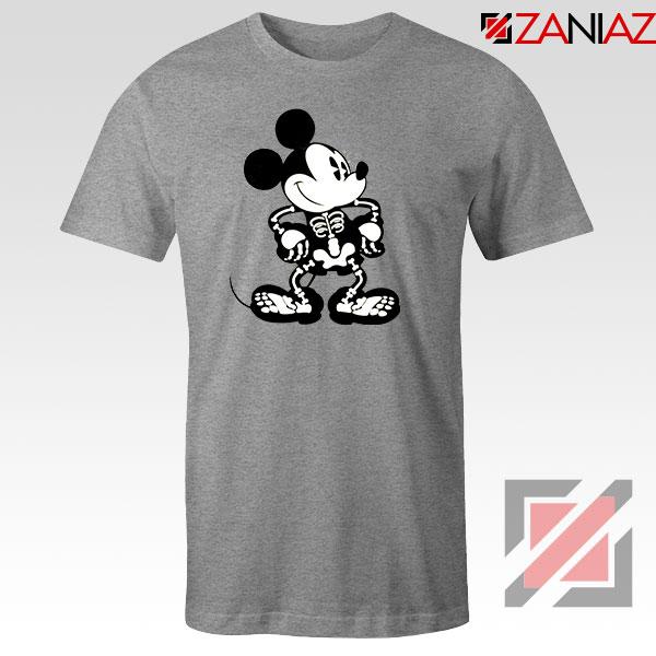 Mickey Mouse Skull Sport Grey Tshirt