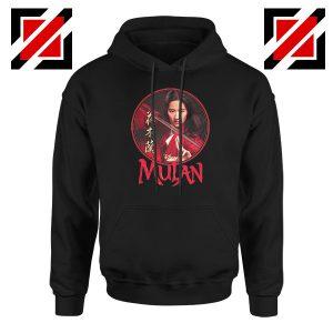 Mulan Portrait Circle Black Hoodie