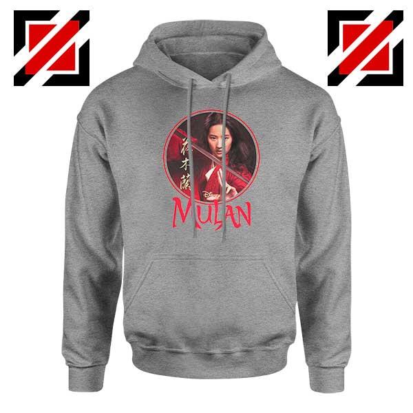 Mulan Portrait Circle Sport Grey Hoodie