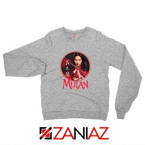 Mulan Portrait Circle Sport Grey Sweatshirt