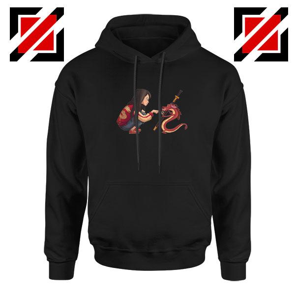 Mulan and Mushu Black Hoodie