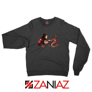 Mulan and Mushu Black Sweatshirt