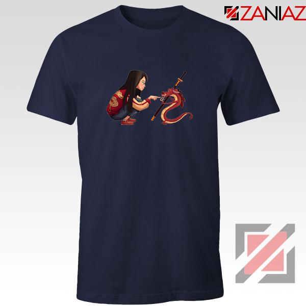 Mulan and Mushu Navy Blue Tshirt