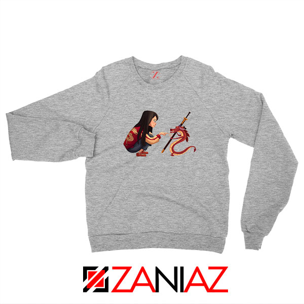 Mulan and Mushu Sport Grey Sweatshirt
