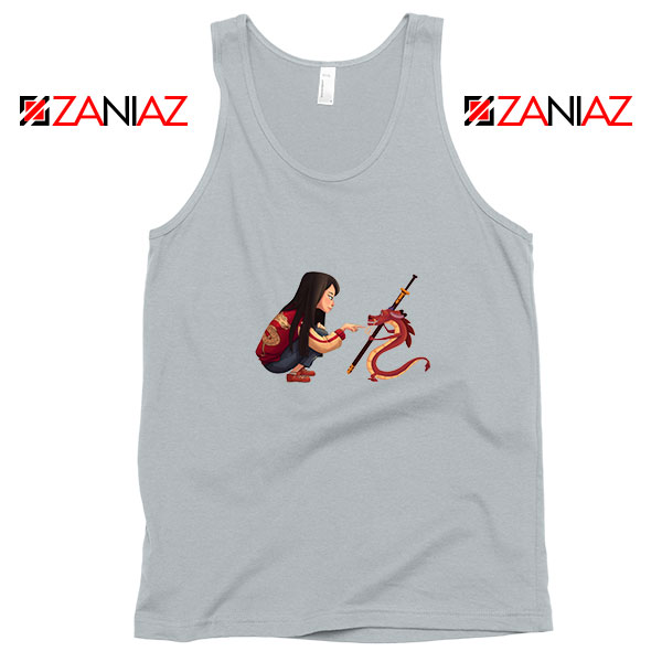 Mulan and Mushu Sport Grey Tank Top
