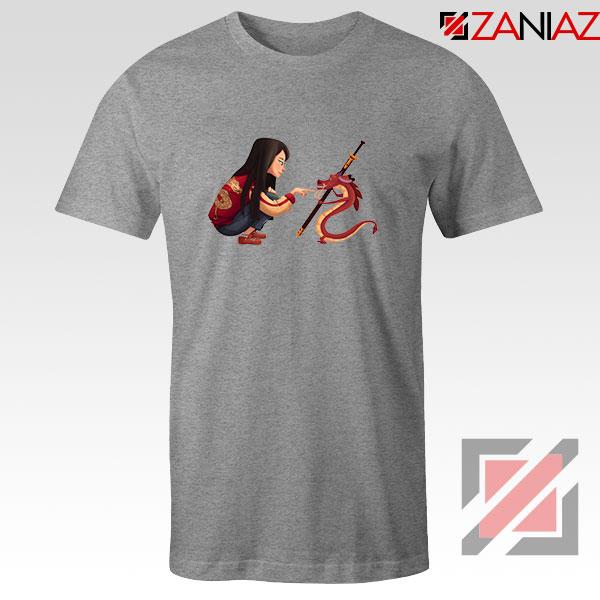 Mulan and Mushu Sport Grey Tshirt