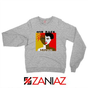 One Race Human Sport Grey Sweatshirt