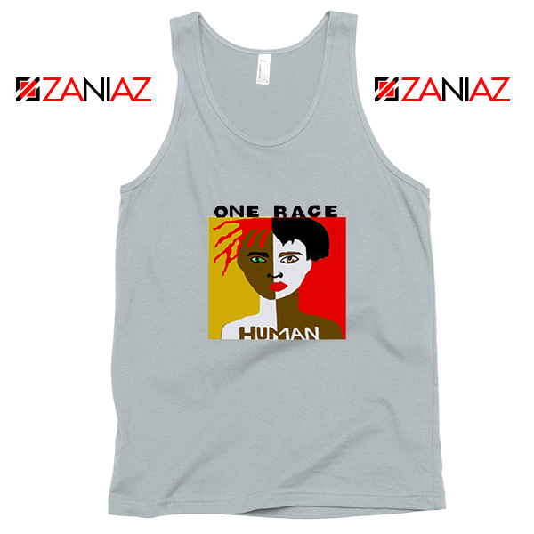 One Race Human Sport Grey Tank Top