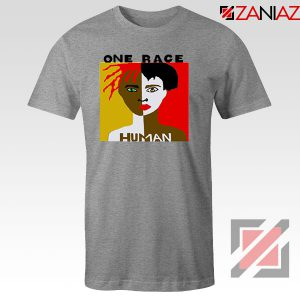 One Race Human Sport Grey Tshirt