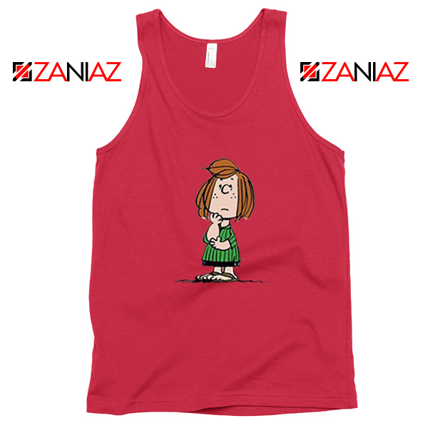 Peppermint Patty Red Tank Top